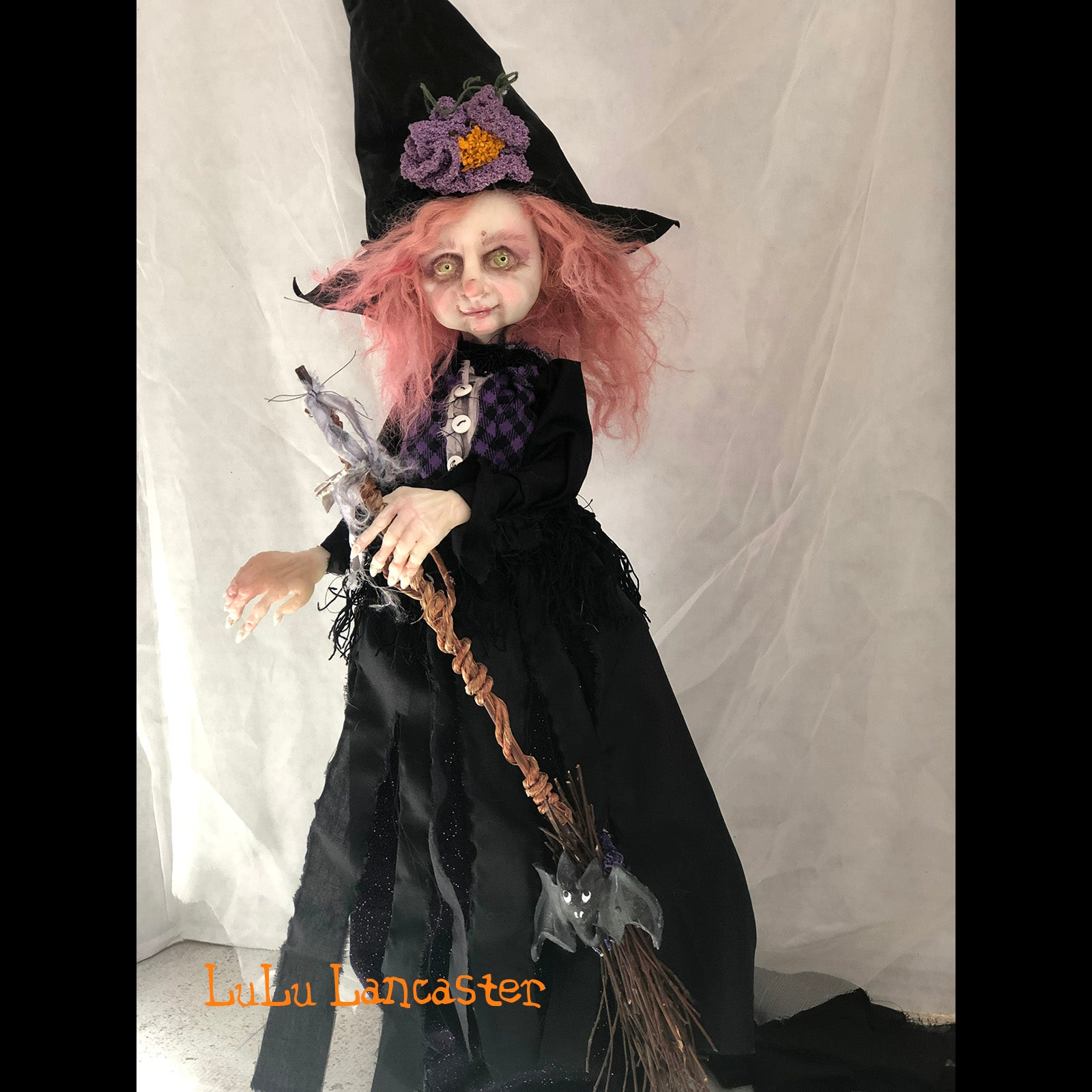 Glennora the Wickety Witch Halloween OOAK Art Doll LuLusApple