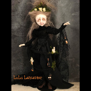 Grannie Lumiere Halloween Wickety witch  OOAK Art Doll LuLu Lancaster