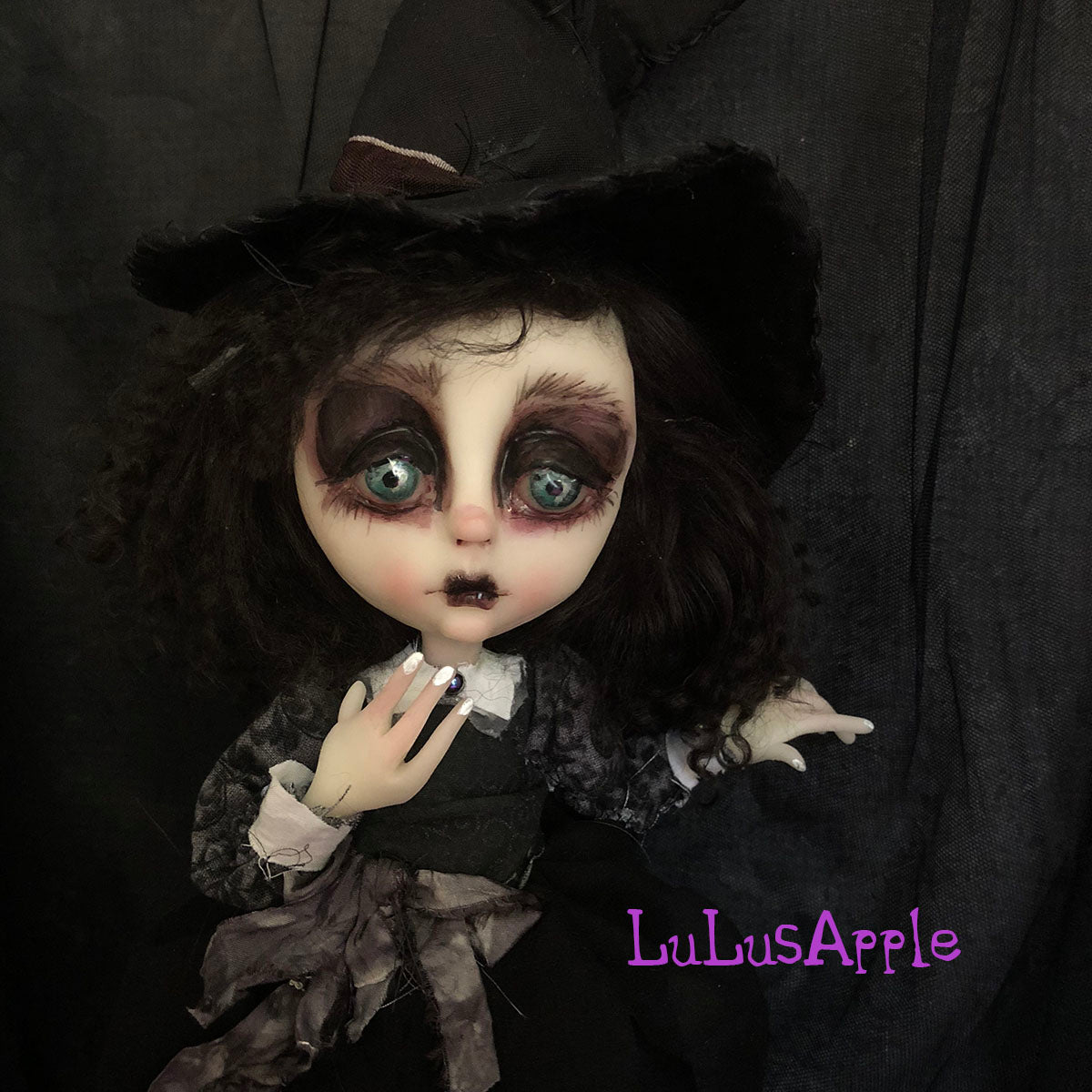 Hadley the Witch Halloween OOAK Art Doll  LuLusApple
