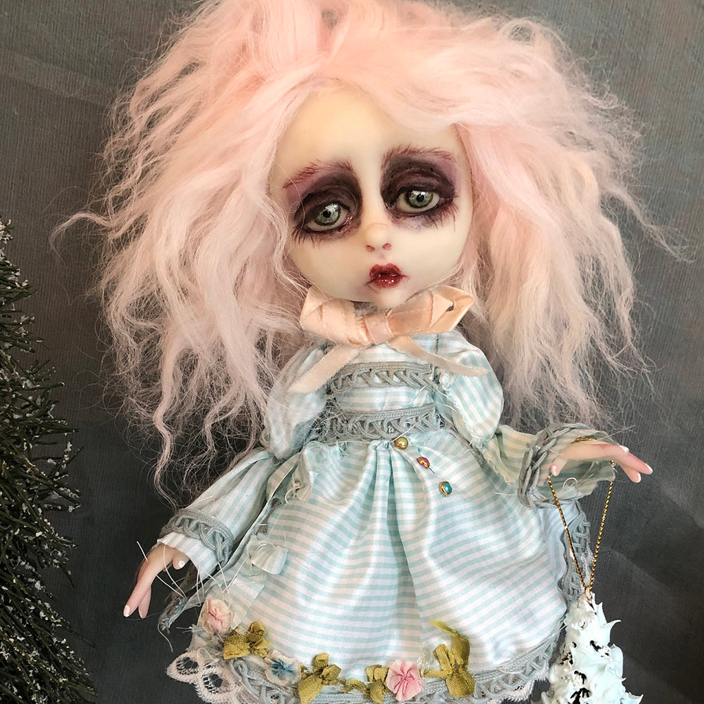 Hana shabby victorian style Winter OOAK Art Doll LuLusApple