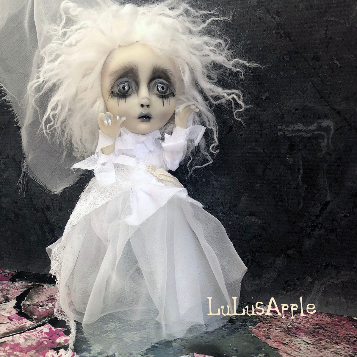 Harp Ghostly girl of Penchant Place  Mini OOAK LuLusApple Art Doll
