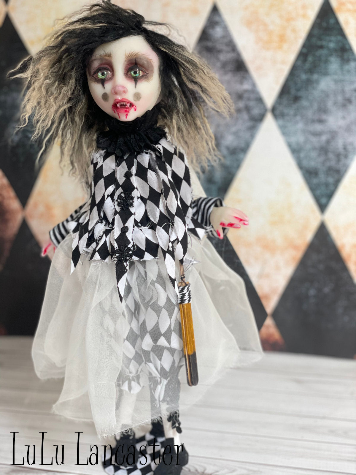 Harpee Harlequin the Vampire Biter Original LuLu Lancaster Art Doll