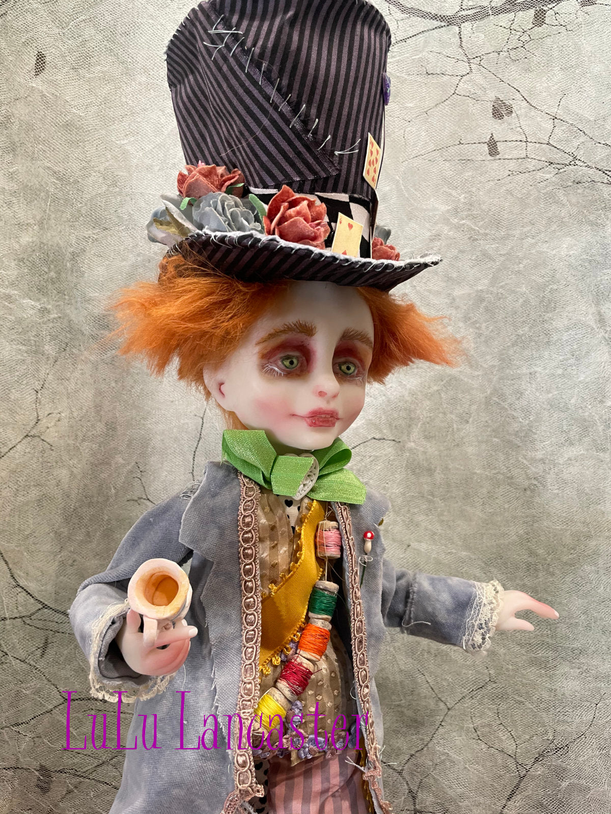 Mad Hatter and Humpty Dumpty Original LuLu Lancaster Art Doll
