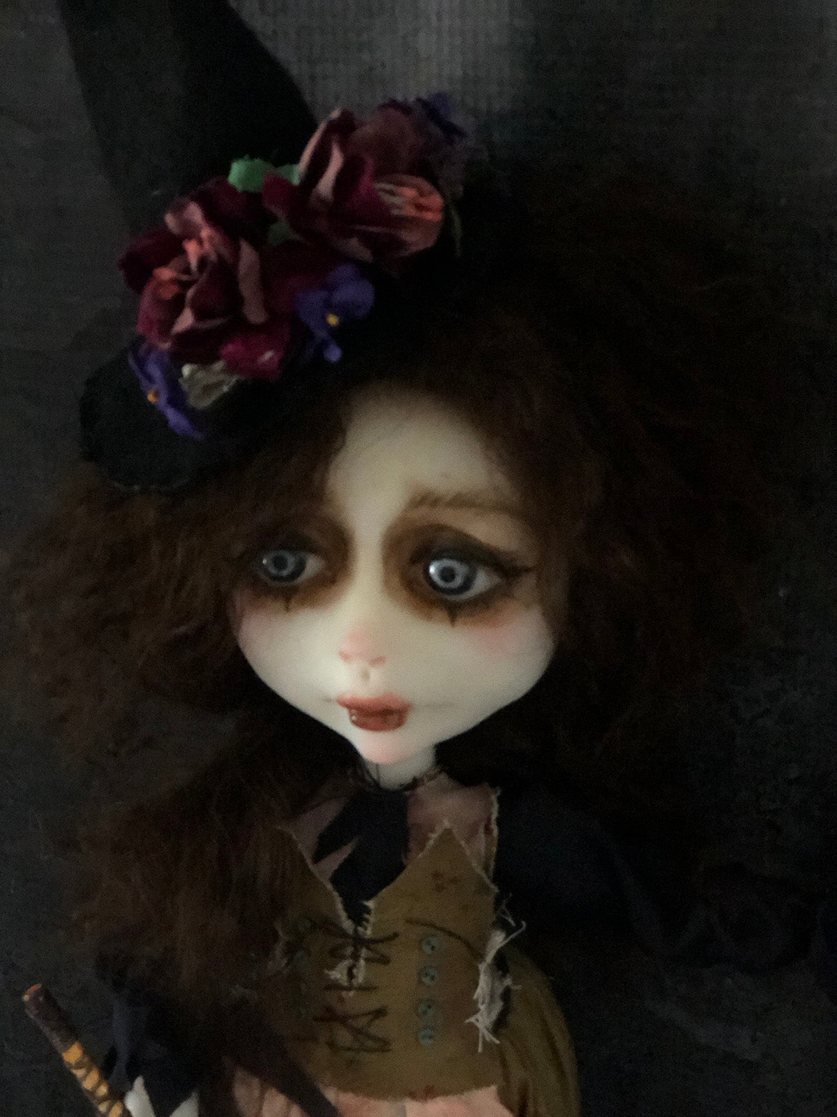 Hazel Harcort the Witch OOAK Halloween Art Doll LuLu Lancaster