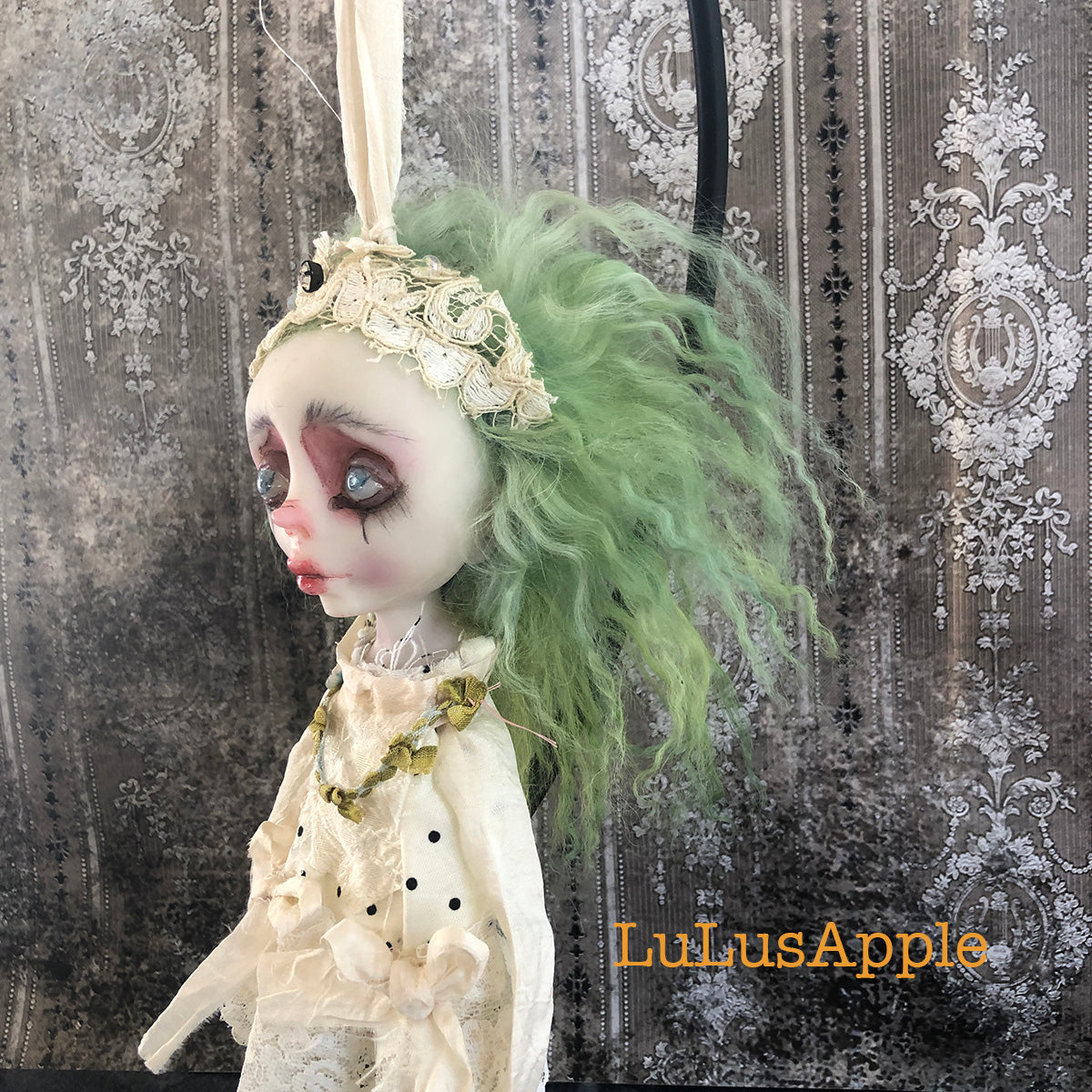 Marla the Decapitated Head Ghostly ornament OOAK LuLusApple Art Doll
