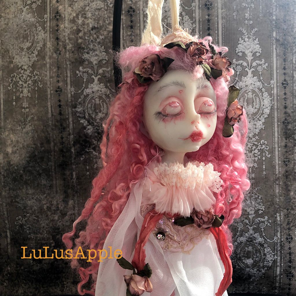 May the Decapitated Head Ghostly ornament OOAK LuLusApple Art Doll