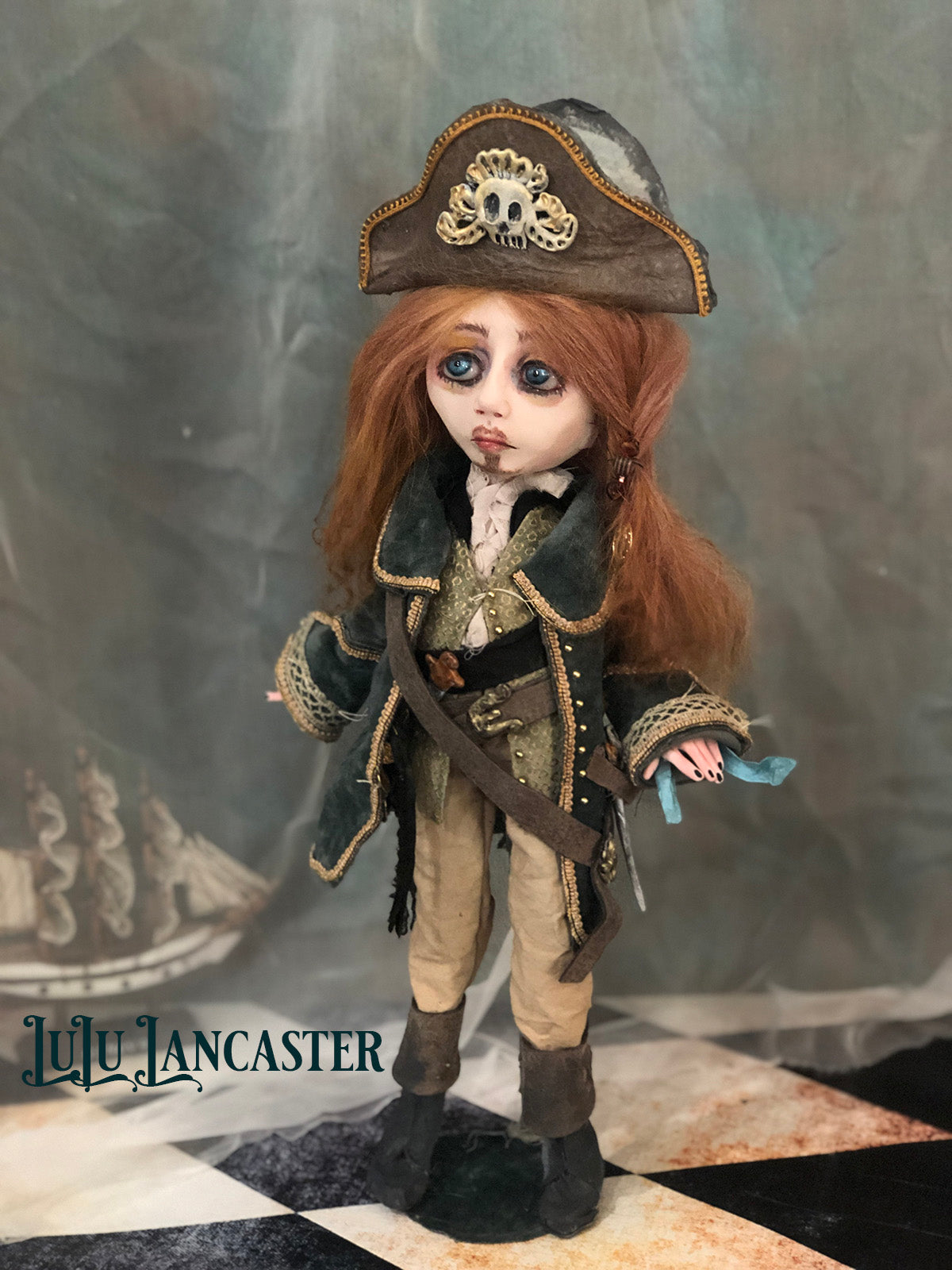 Hidalgo the Pirate OOAK LuLu Lancaster Art Doll