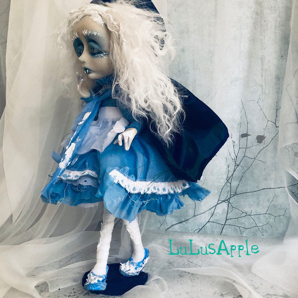 Ingrid VonFrost the Winter Vampire Goth Victorian OOAK Art Doll LuLusApple