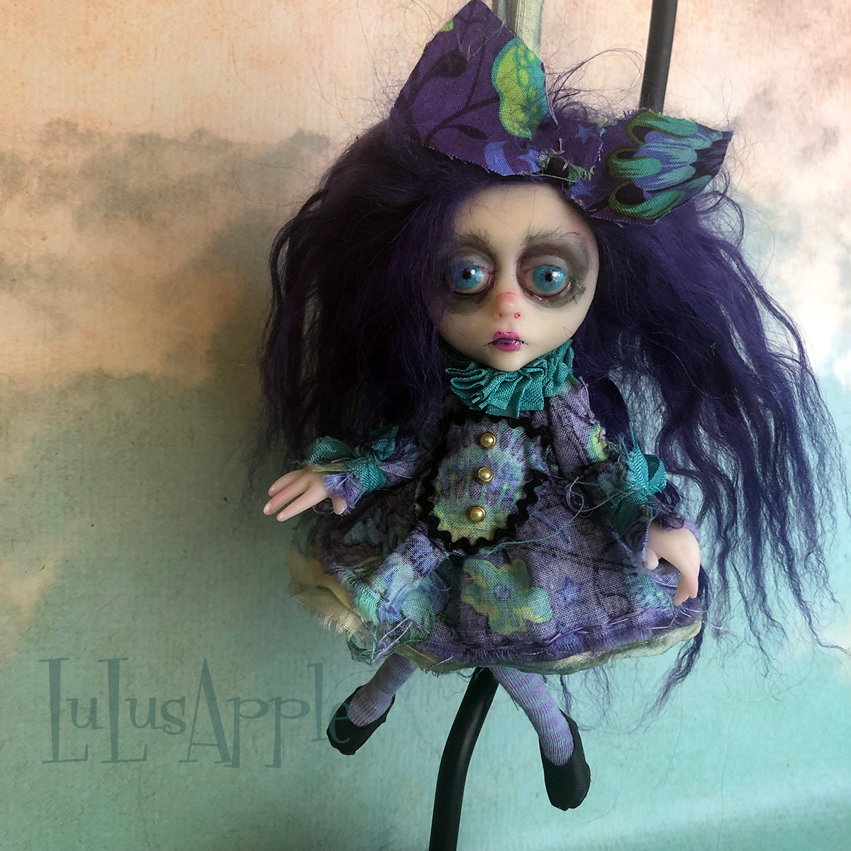 Jade Mini Hanging ornament OOAK LuLusApple Art Doll
