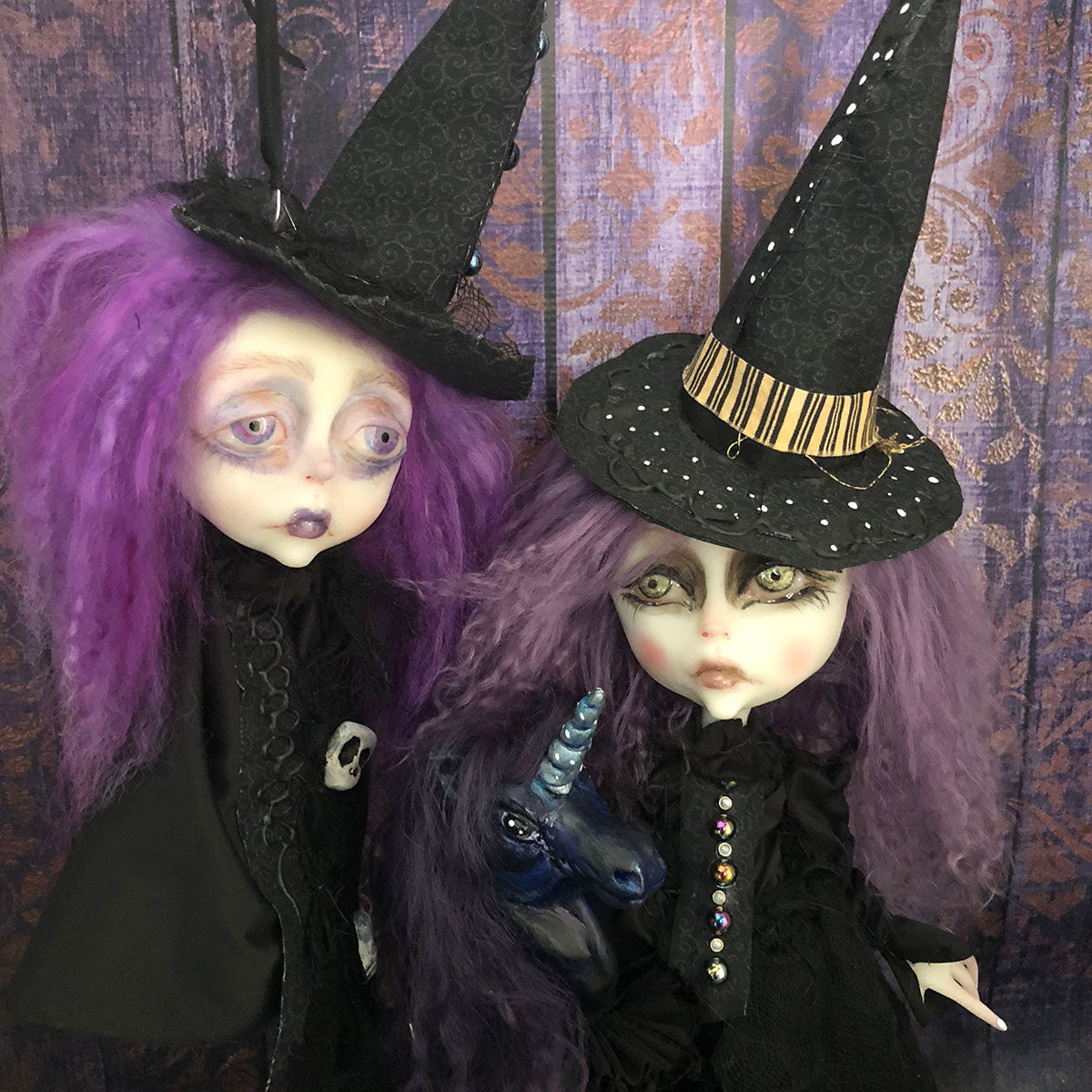 Decapitated Witch Head Kamdyn ornament OOAK LuLusApple Art Doll