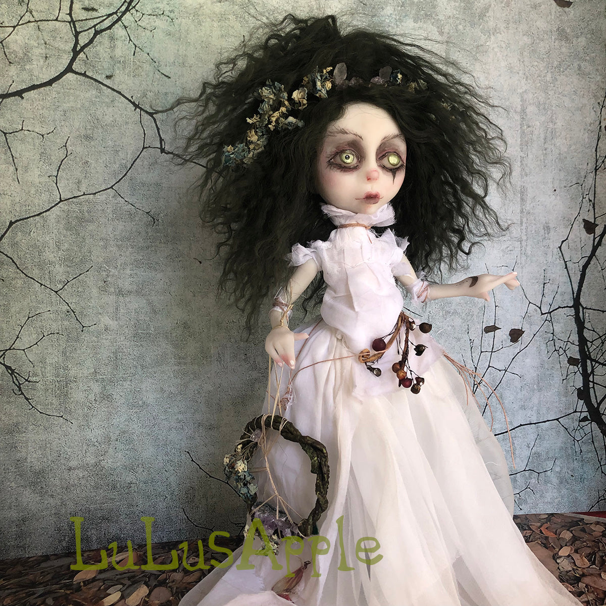 Lachlan the Hedge Witch Crystal Magick OOAK LuLusApple Art Doll