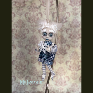 Lad Frostie Boy Ornament OOAK Art Doll LuLu Lancaster