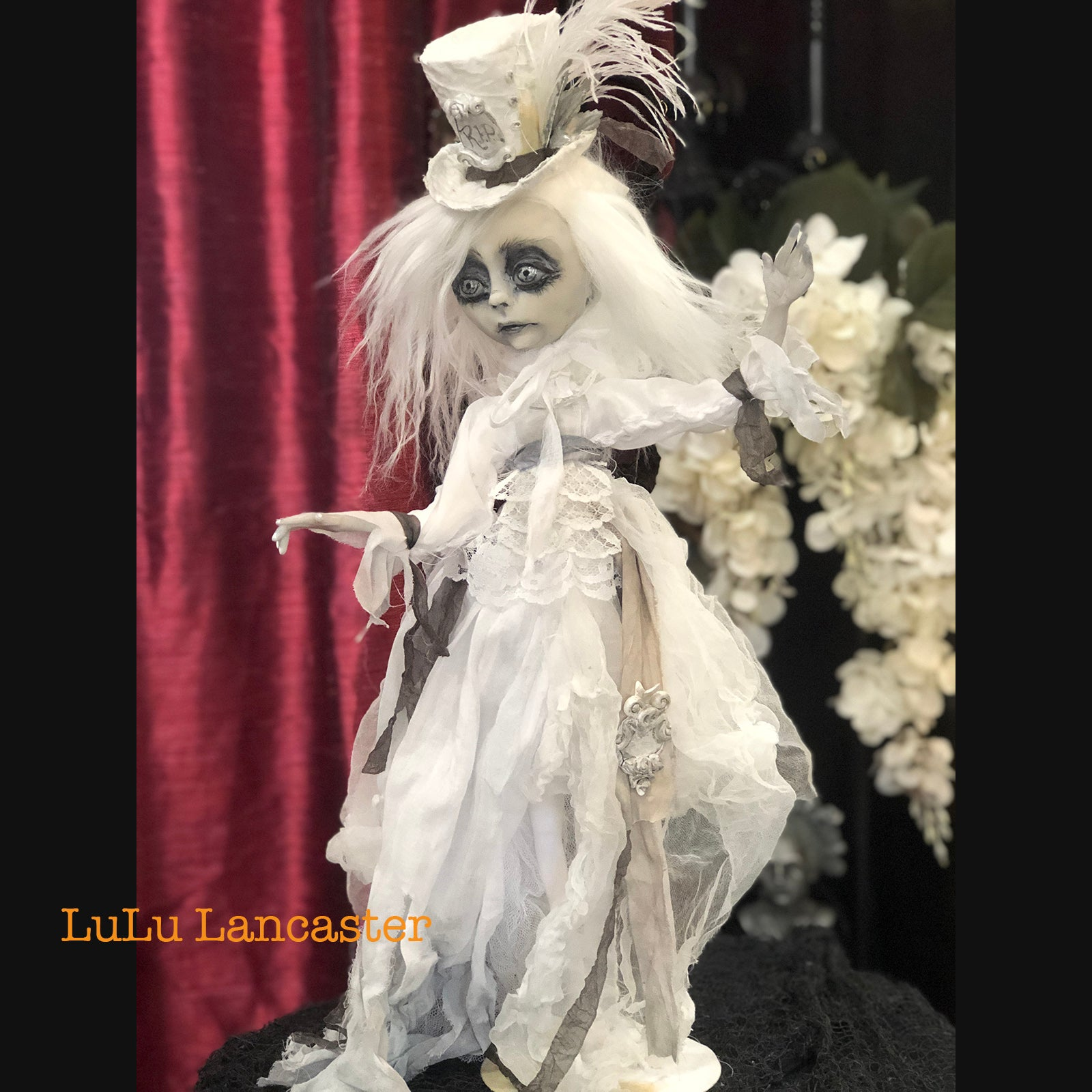 Lady Larkin the Victorian Ghost OOAK Art Doll LuLu Lancaster