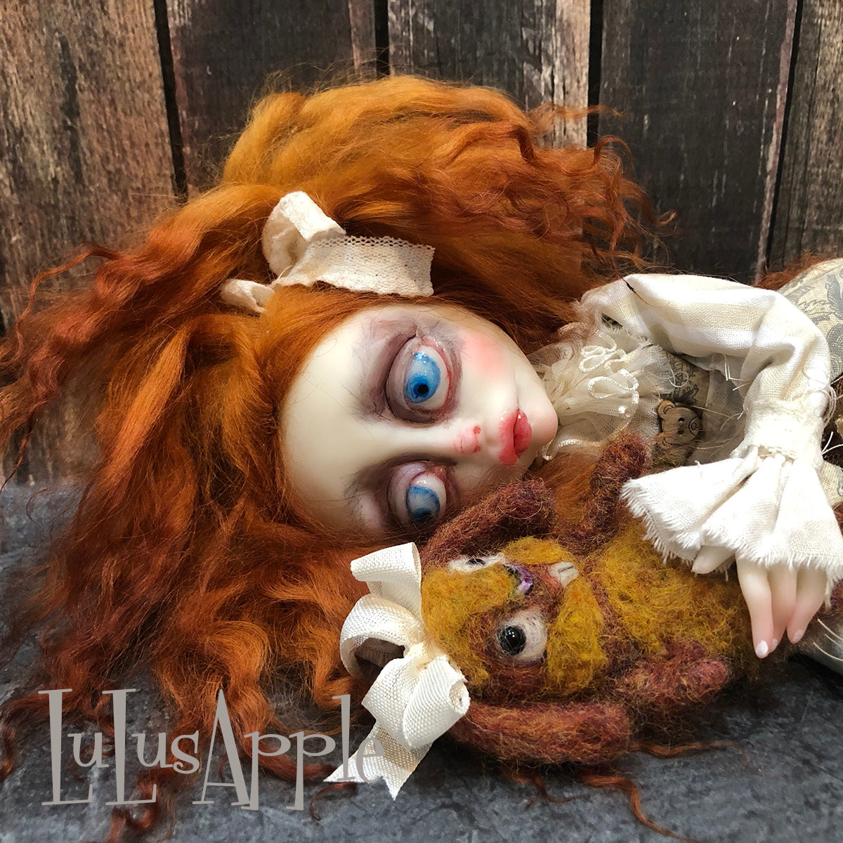 Lahlee sadness OOAK Art Doll LuLusApple