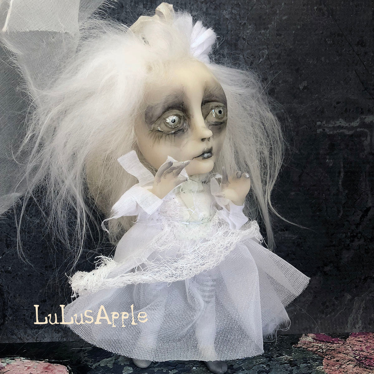Lari Ghostly girl of Penchant Place  Mini OOAK LuLusApple Art Doll