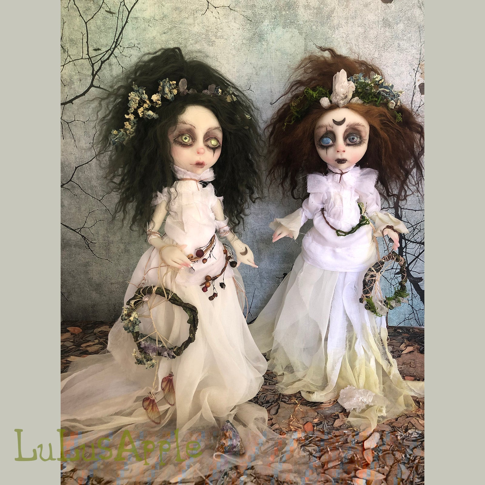 Letitia the Hedge Witch Crystal Magick OOAK LuLusApple Art Doll
