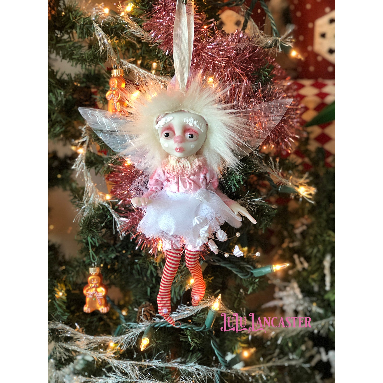 LiL SugarPlum Fairy Ornament OOAK Art Doll LuLu Lancaster
