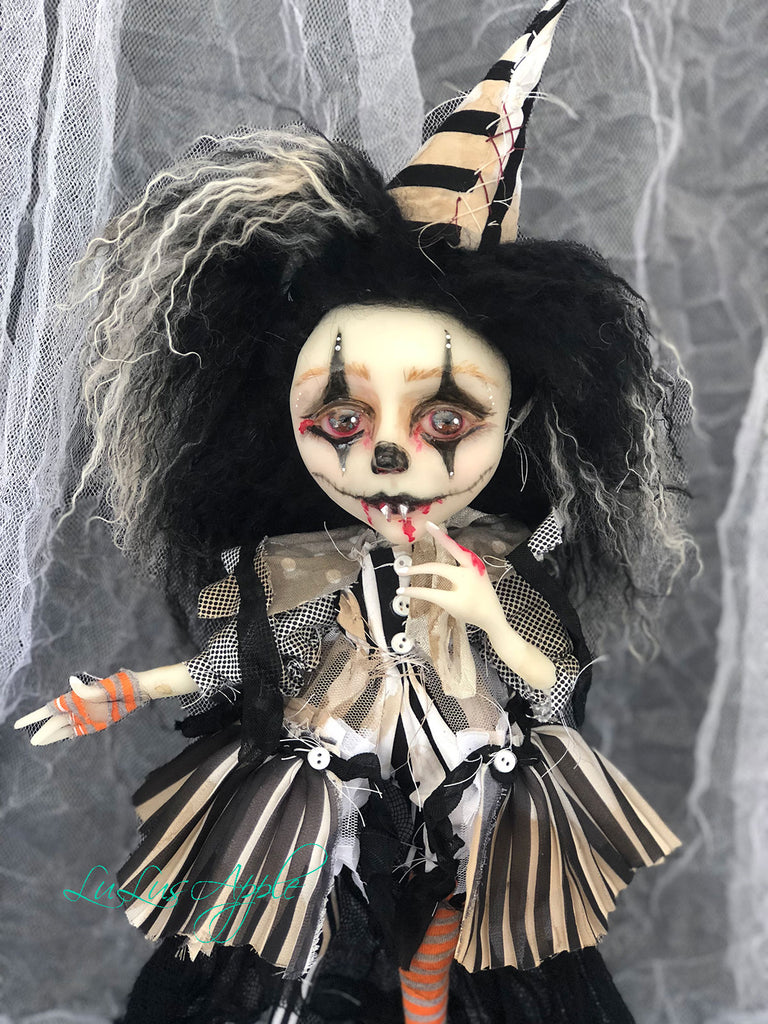 LuLia the Vampire Clown OOAK Dark Circus LuLusApple Art Doll
