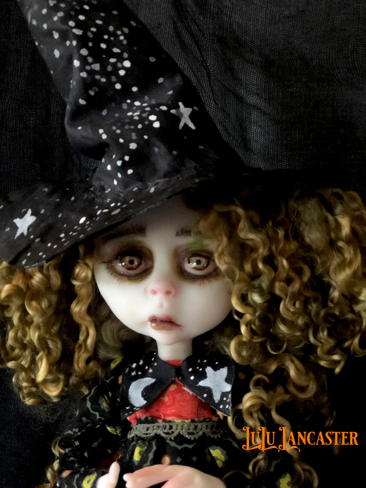 Luna Grove the Harvest Moon Witch OOAK LuLu Lancaster Art Doll