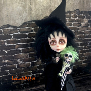 Little Lydia the Witch Halloween Mashup LuLusApple OOAK Art Doll