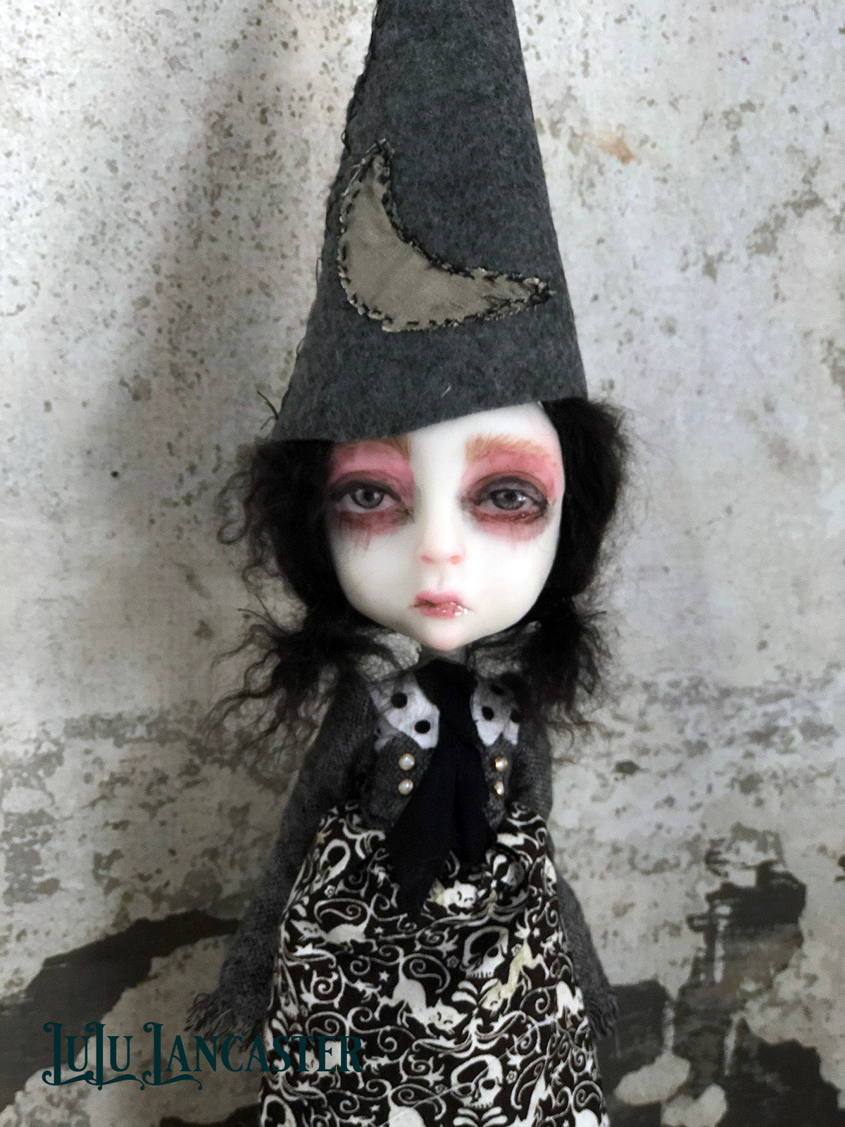 Maeve Sister of the Moon Witch OOAK LuLu Lancaster Art Doll