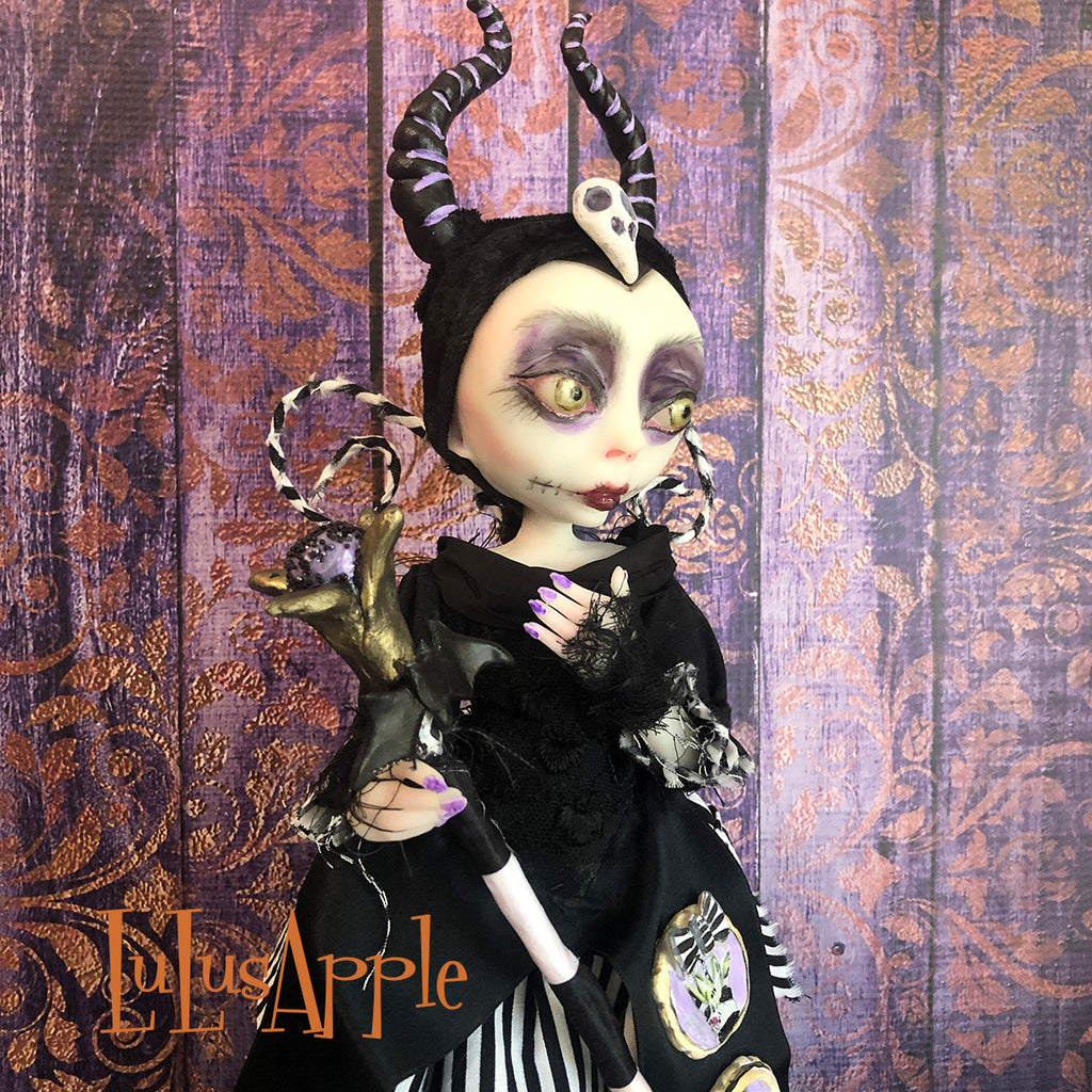 Maleficent Villain Mashup OOAK Art Doll LuLusApple