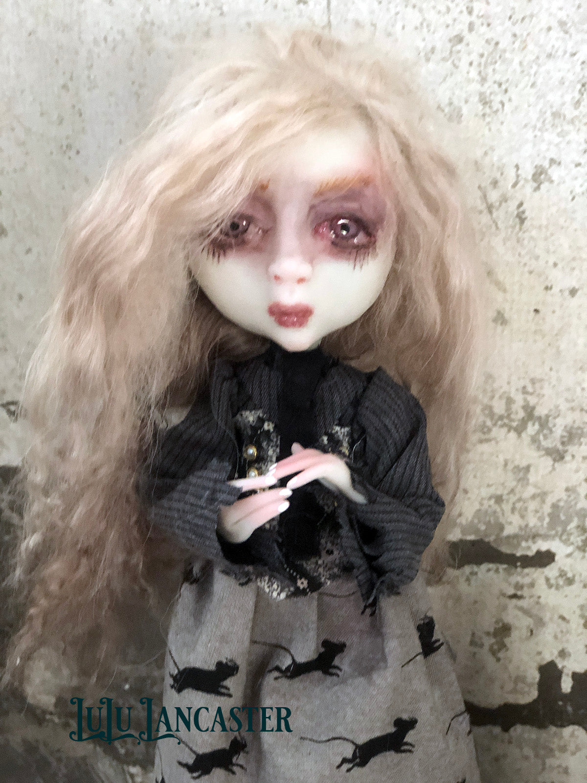 Malice Sister of the Moon Witch OOAK LuLu Lancaster Art Doll