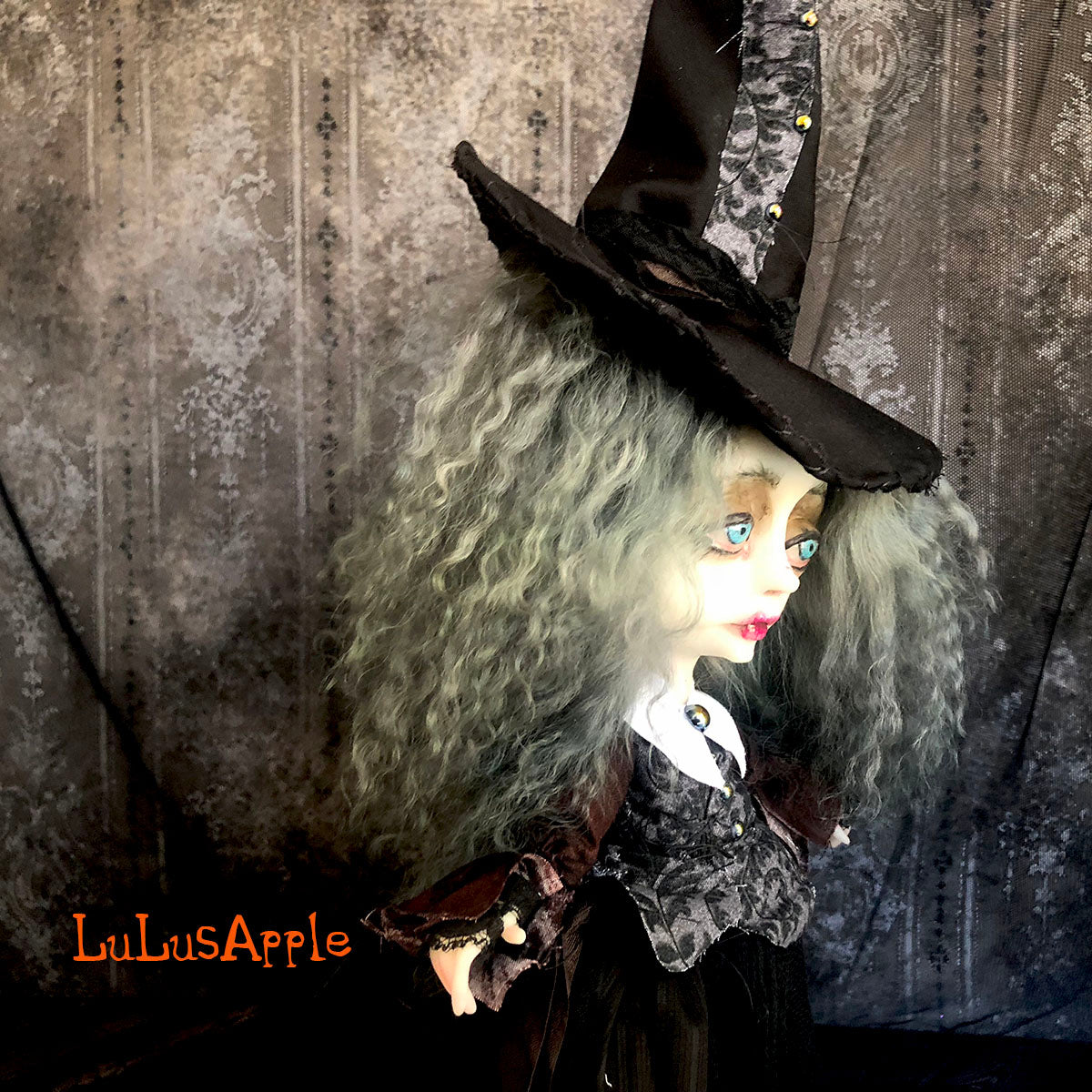 Malvina the Witch Victorian Halloween OOAK Art Doll LuLusApple