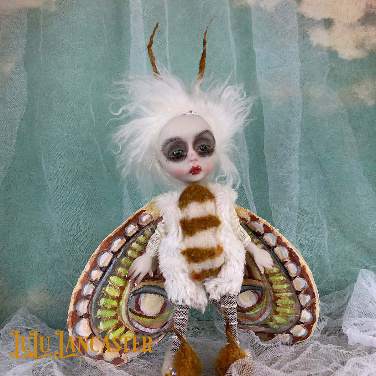 Marney The Winter Moth mini OOAK Art Doll LuLu Lancaster