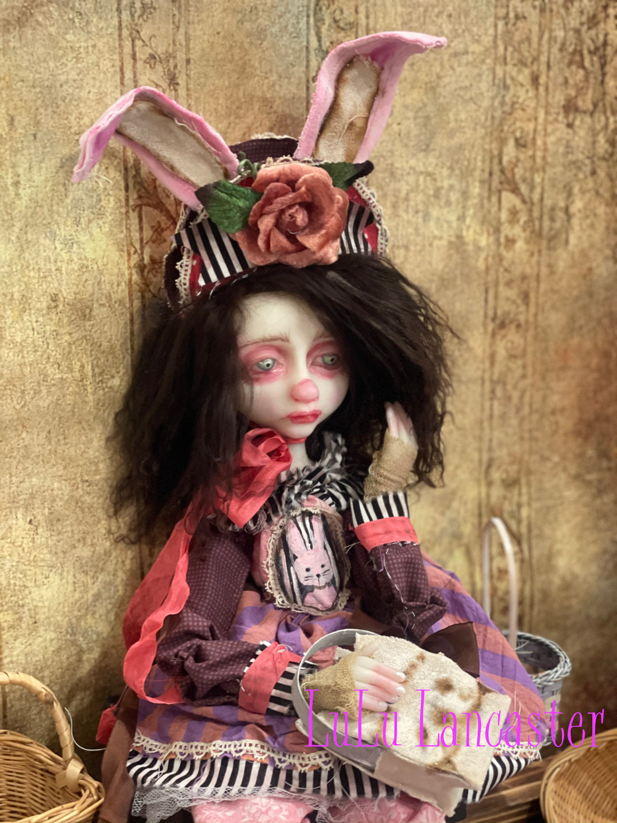 Sad Millie Bunny Girl Original LuLu Lancaster Art Doll