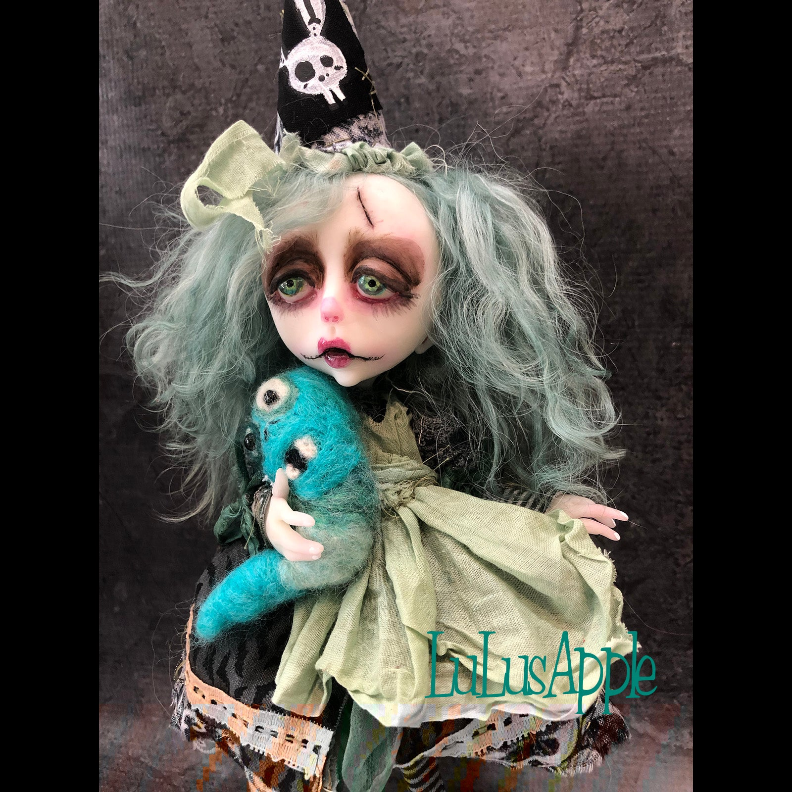 Millie and Maggot Dark gothic OOAK Art Doll LuLusApple