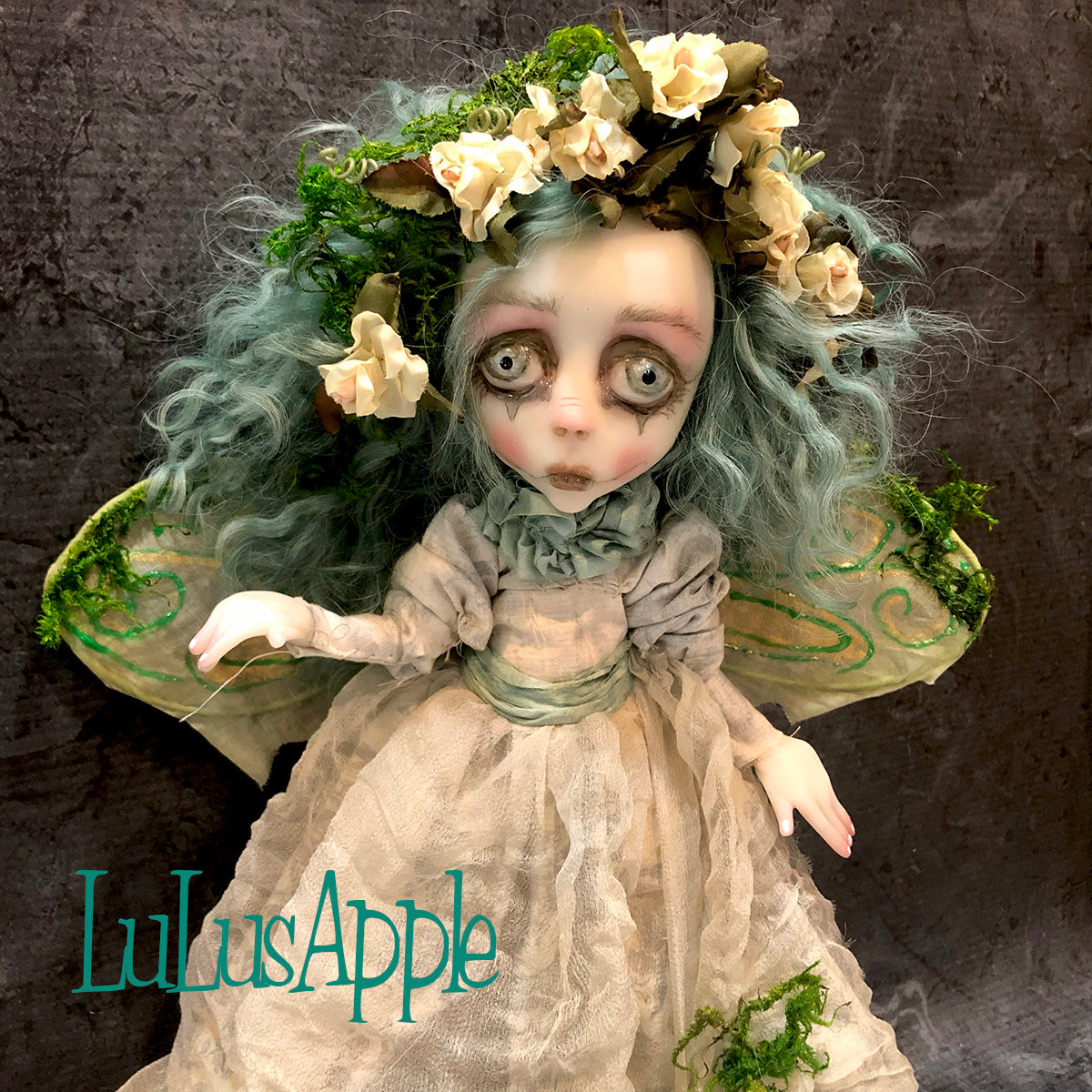Mire of the Mosslands woodland fairy OOAK Art Doll LuLusApple