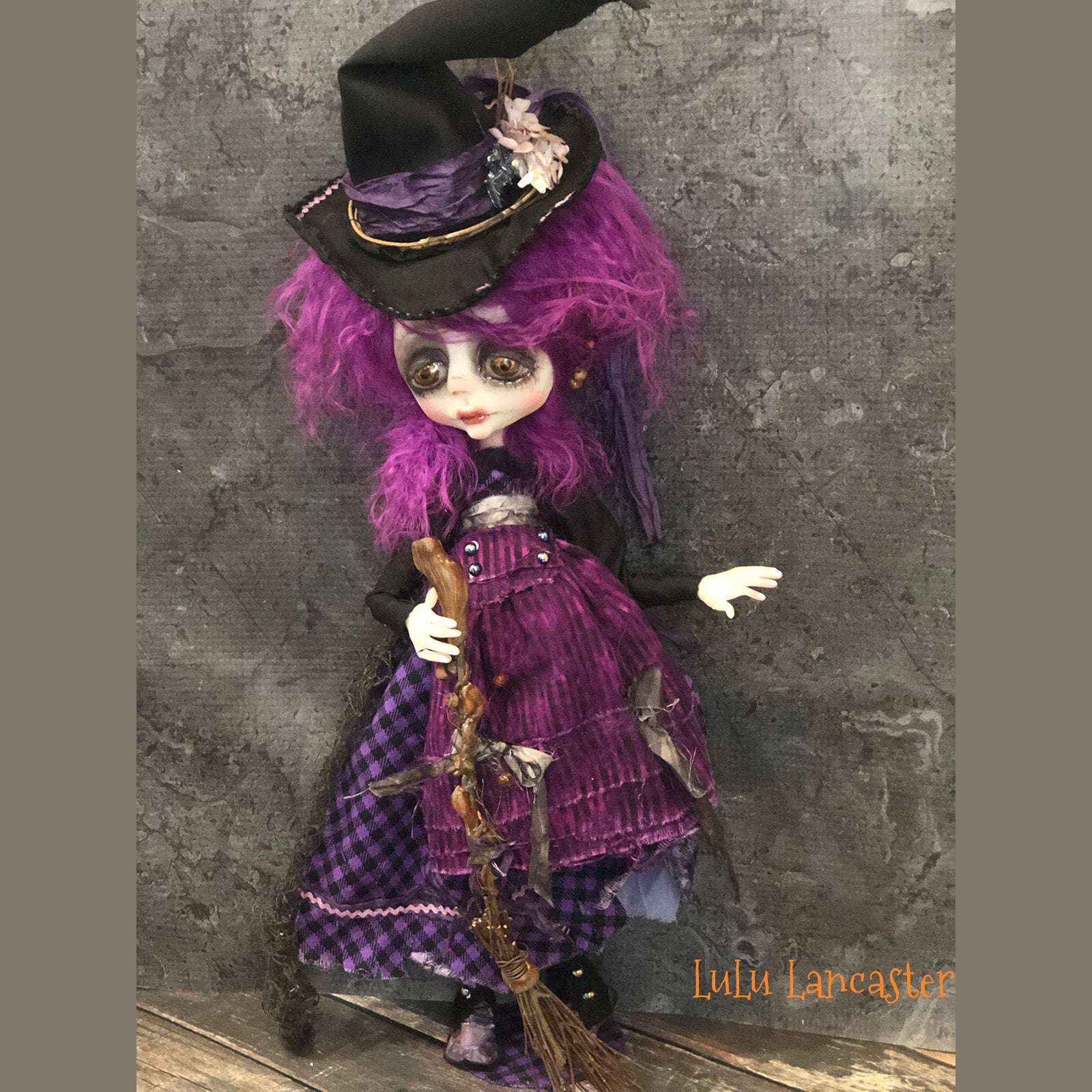 Miss. Spencer the Witch Halloween OOAK Art Doll LuLu Lancaster