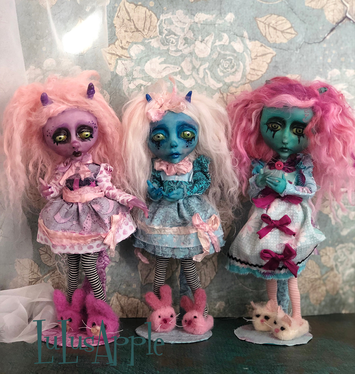 Anka Monster Demon mini OOAK LuLusApple Art Doll