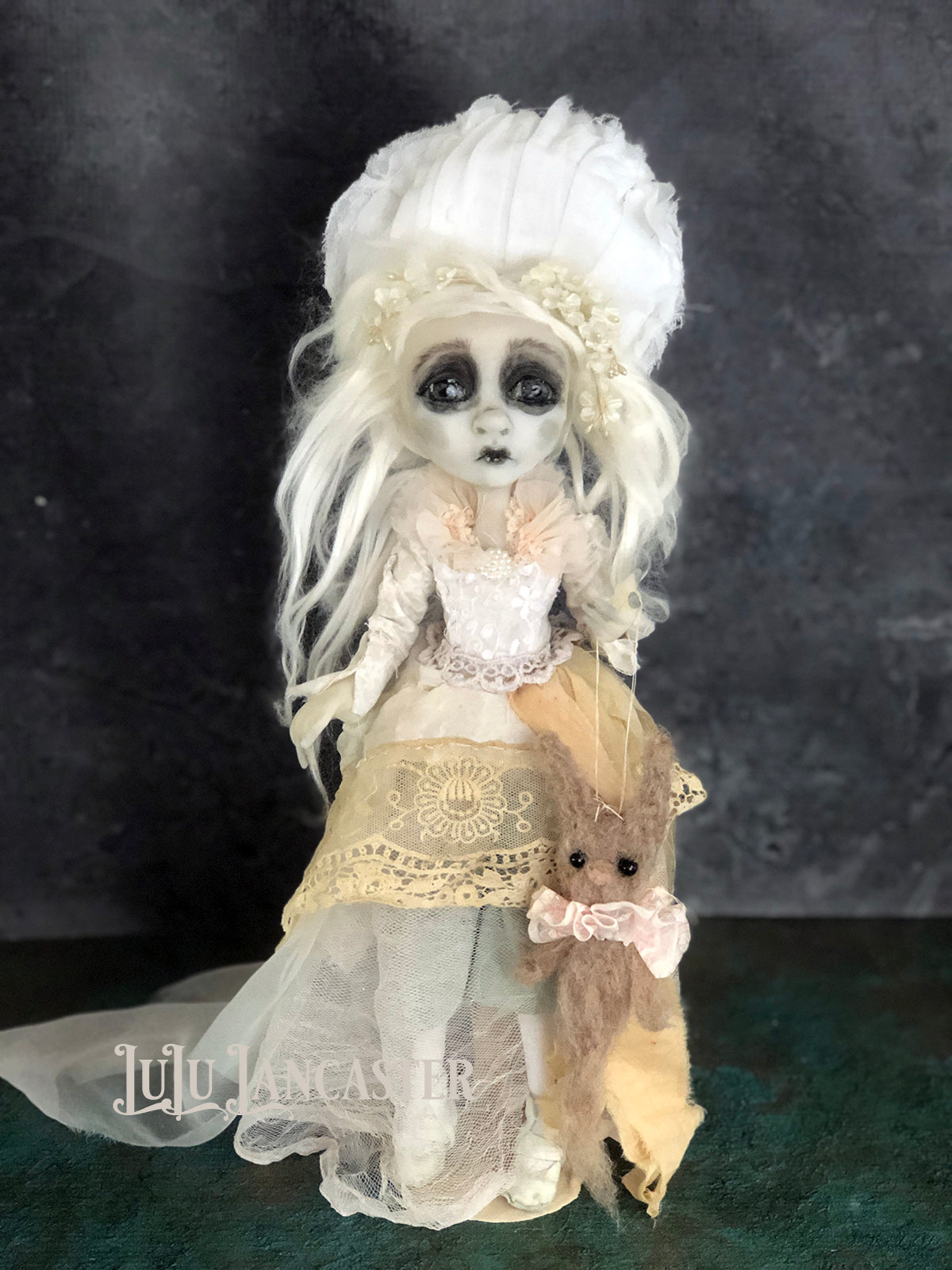 Morea lost Halloween Ghostie Original Art Doll by LuLu Lancaster