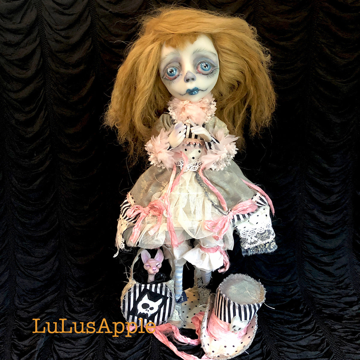 Muriel Ghostly Funeral Girl OOAK Art Doll LuLusApple