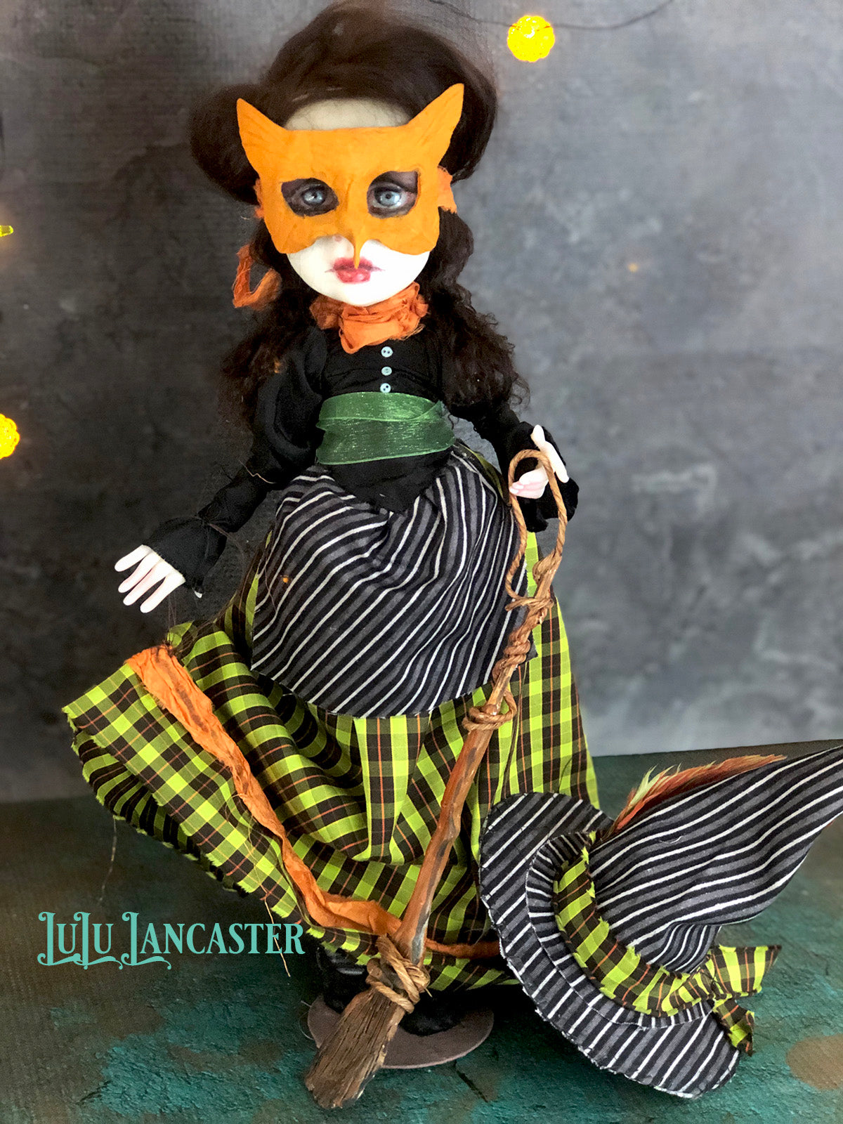 Nascha the Owl Witch Halloween Original Art Doll by LuLu Lancaster