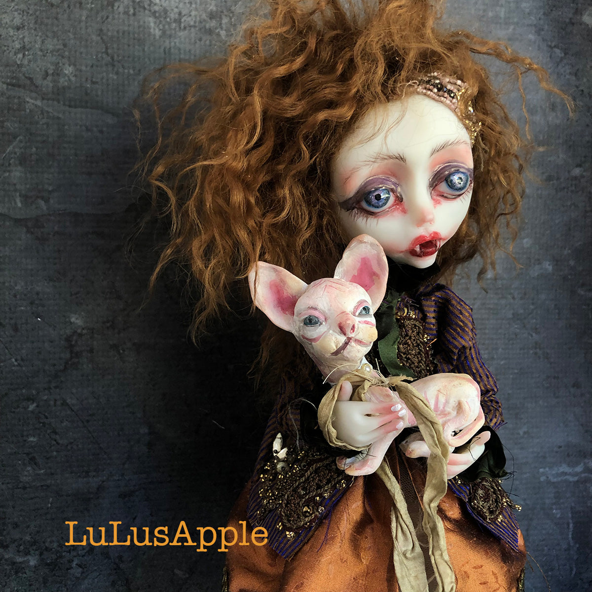 Patience and Prue Victorian Vampire OOAK Art Doll LuLusApple