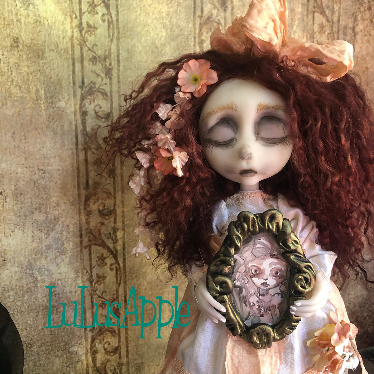 Peach Memento Mori Corpse OOAK Art Doll LuLusApple