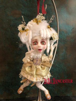 Piddie Mini Rococo Hanging Holiday Art Doll LuLu Lancaster