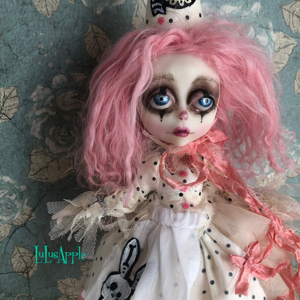 Pink Alice Poupee the Clown Victorian Wonderland OOAK Art Doll LuLusApple