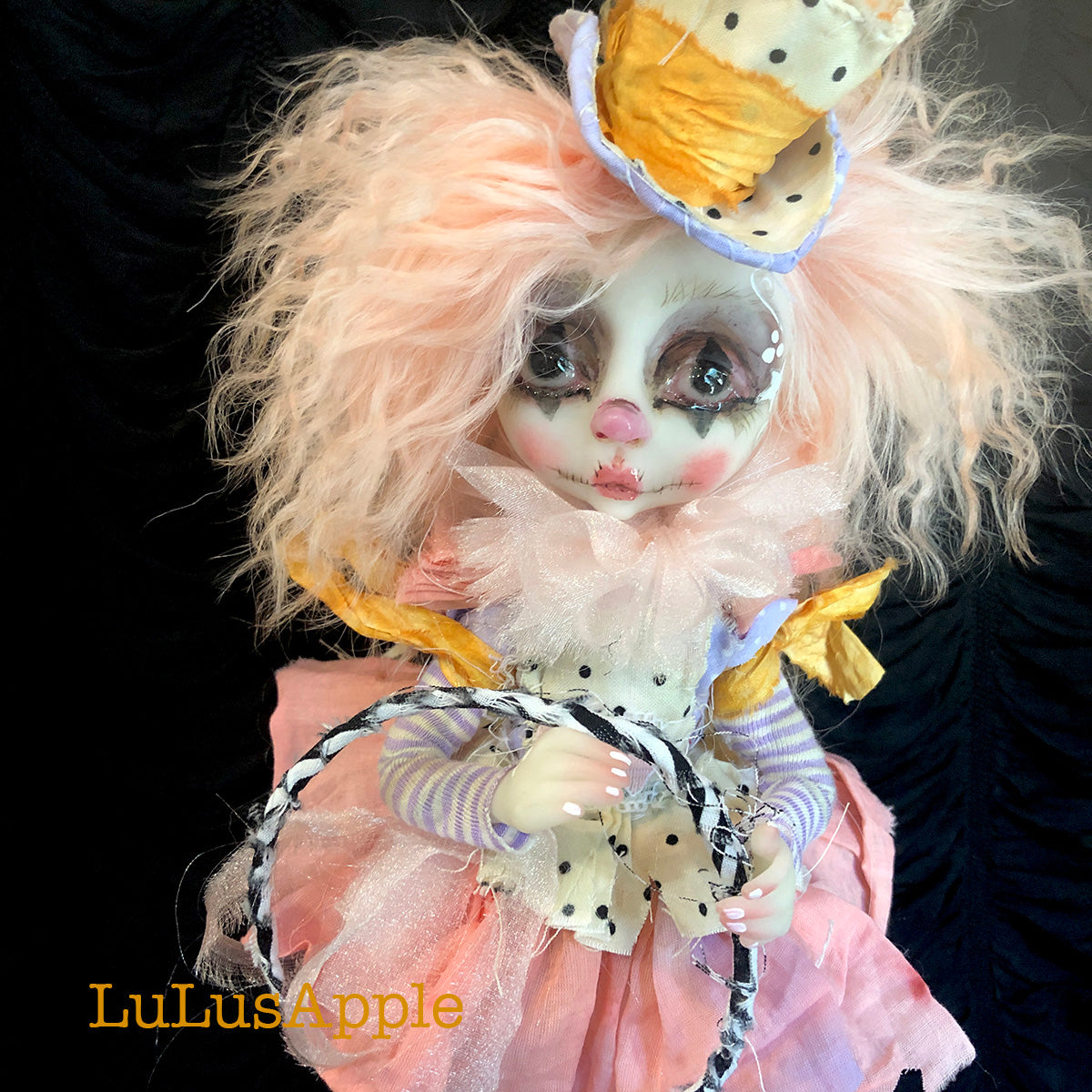 Pippy Poupee the sad victorian clown OOAK Art Doll LuLusApple