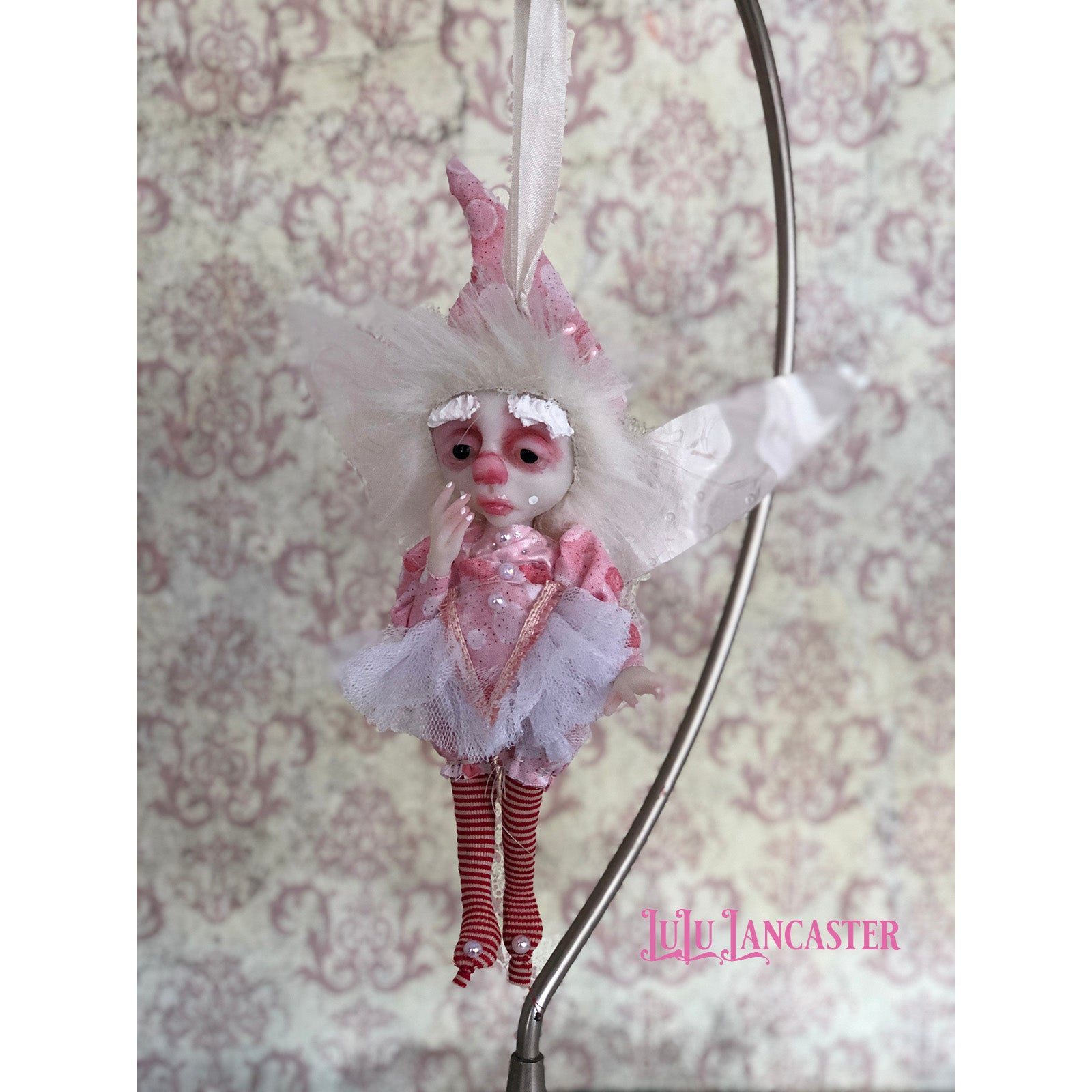Pix SugarPlum Fairy Ornament OOAK Art Doll LuLu Lancaster