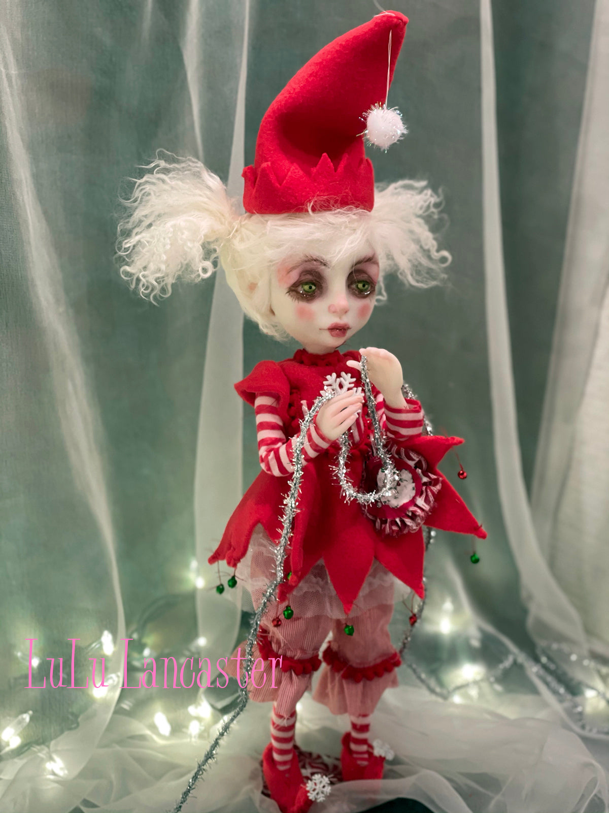 Pix SugarSnap the Christmas Elf Original LuLu Lancaster Art Doll