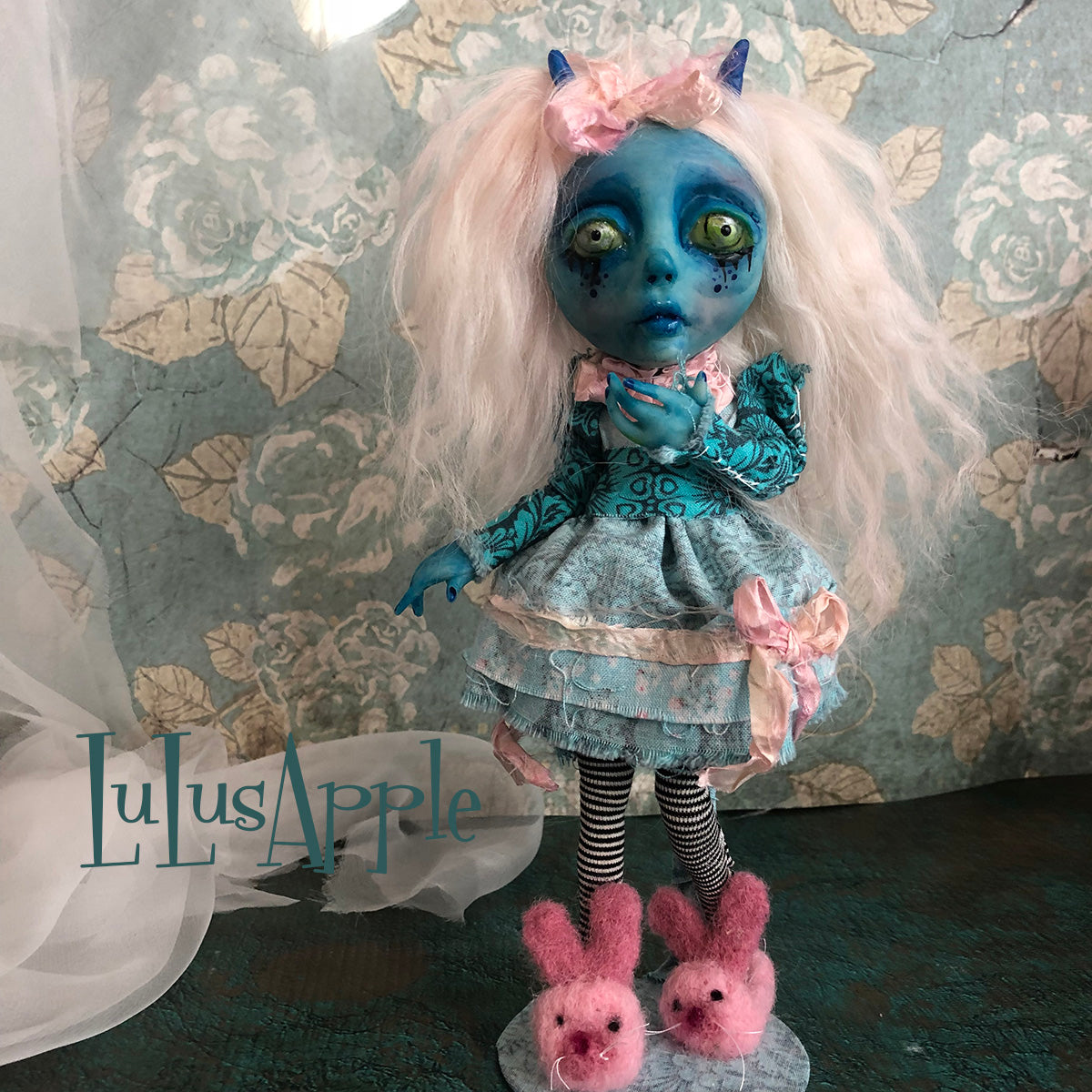 Pooka Monster Demon mini OOAK LuLusApple Art Doll