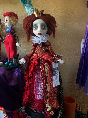 Large Queen of hearts Wonderland OOAK Art Doll LuLu Lancaster