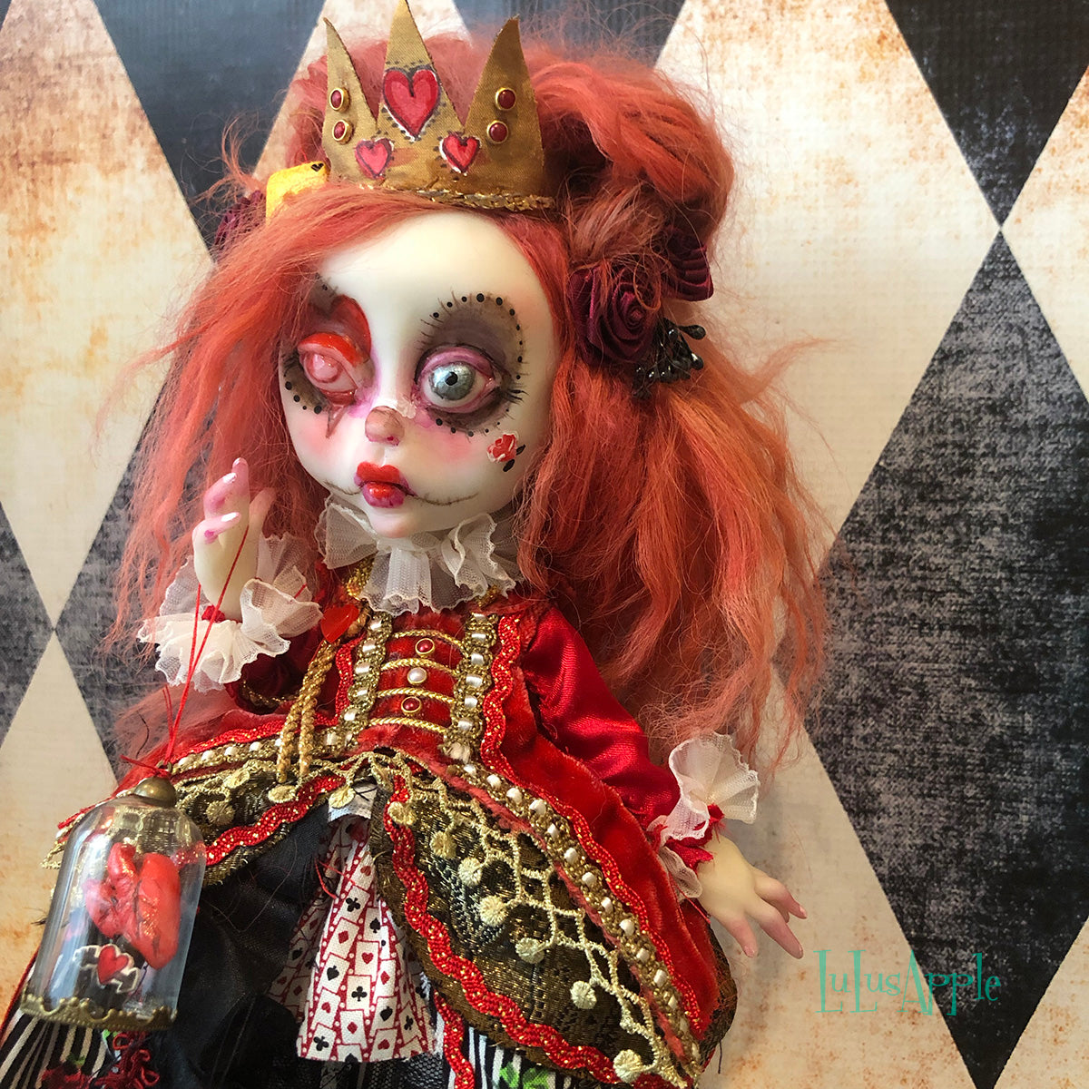 The Queen Wonderland Mashup OOAK LuLusApple Art Doll