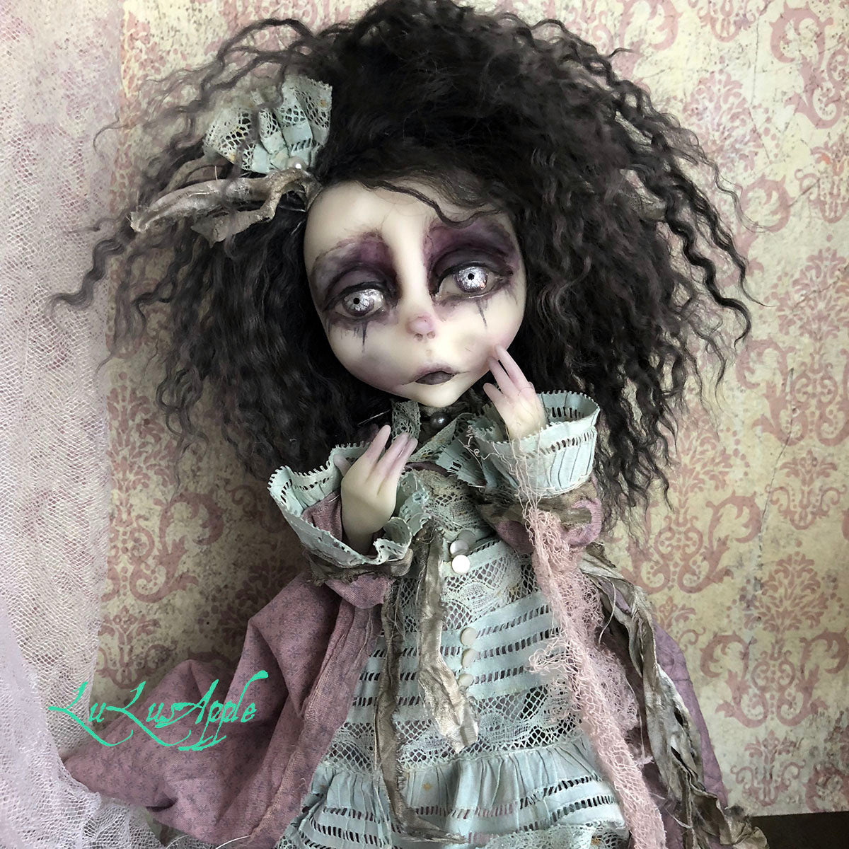 Rebecca the Ghost Gothic Victorian OOAK LuLusApple Art Doll