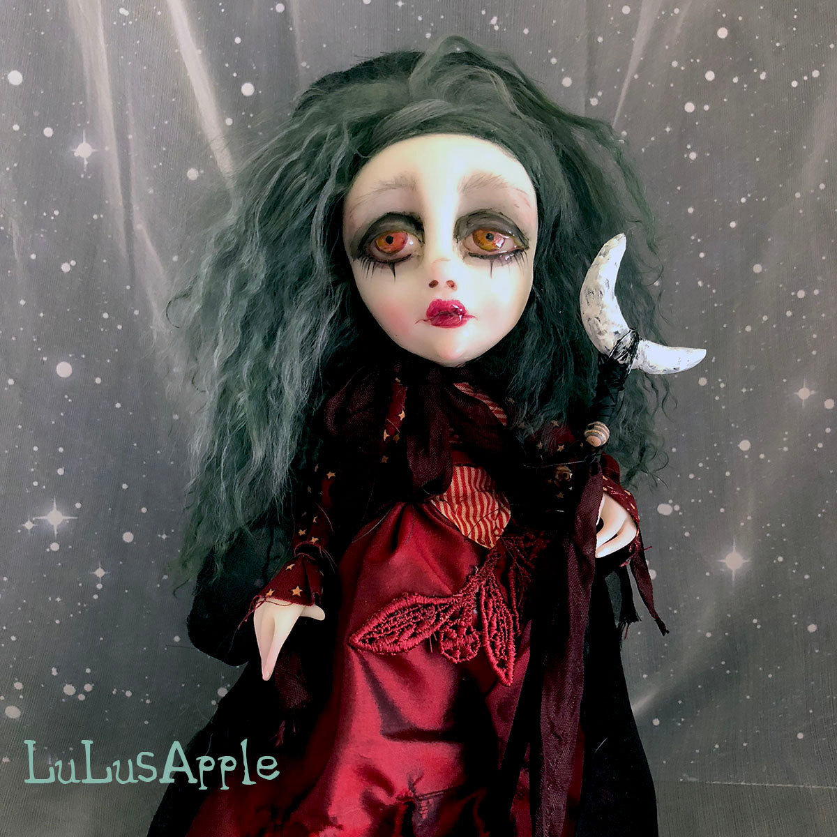 The Red Witch Halloween OOAK Art Doll LuLusApple