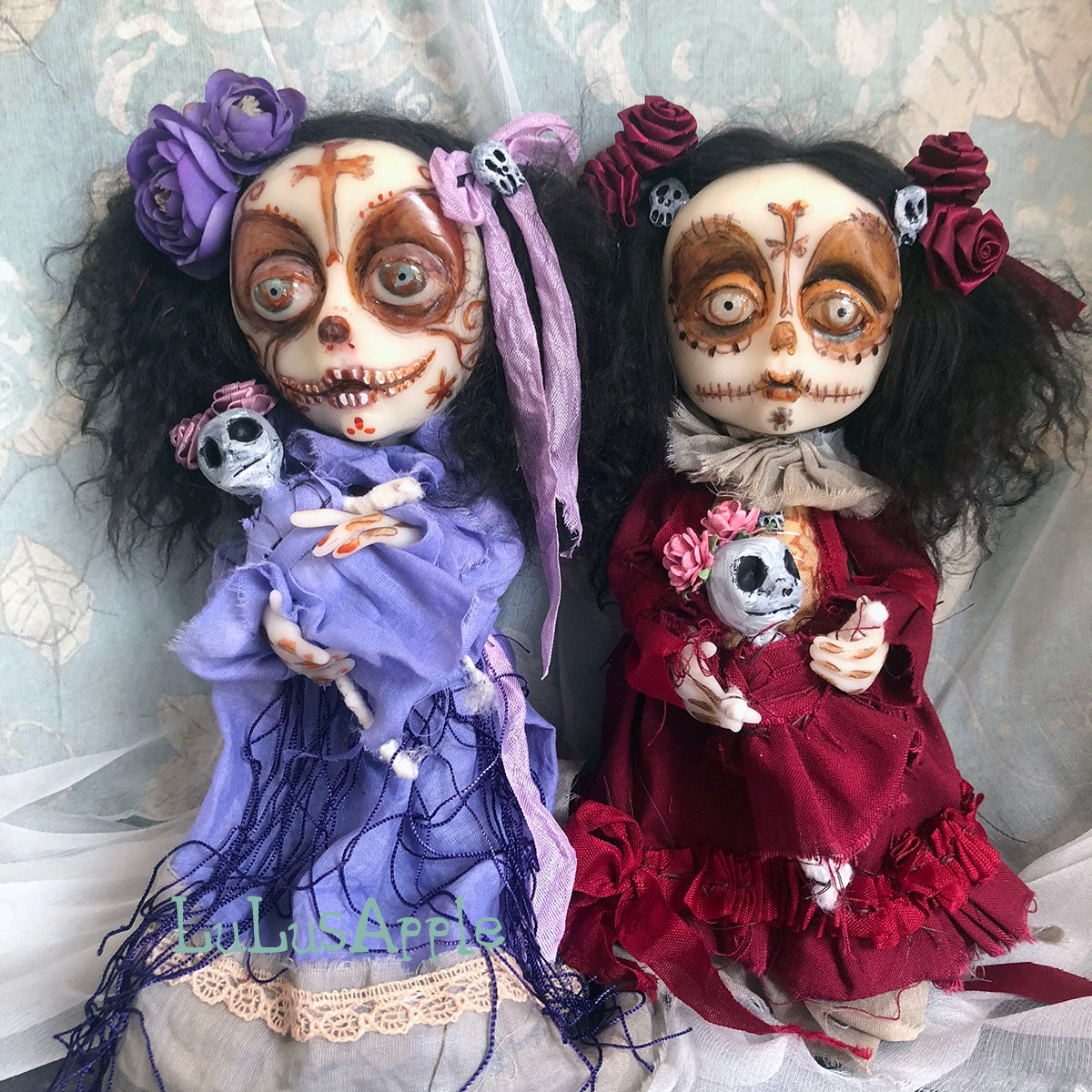 Violetta Dia de os Muertos Mini OOAK LuLusApple Art Doll